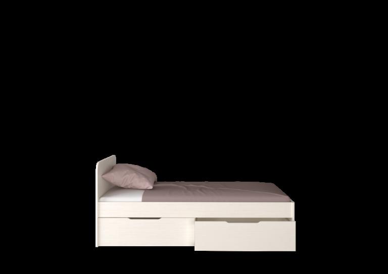 СН-120.02 Кровать односпальная, сосна арктическая